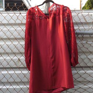 White House Black Market Red Shirt Dress